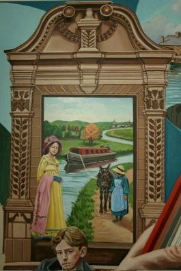 The Fowler Tavern door featured in a mural